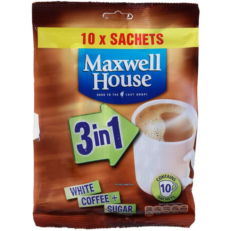 Maxwell House 3 In 1 Coffee Sachets 10pk