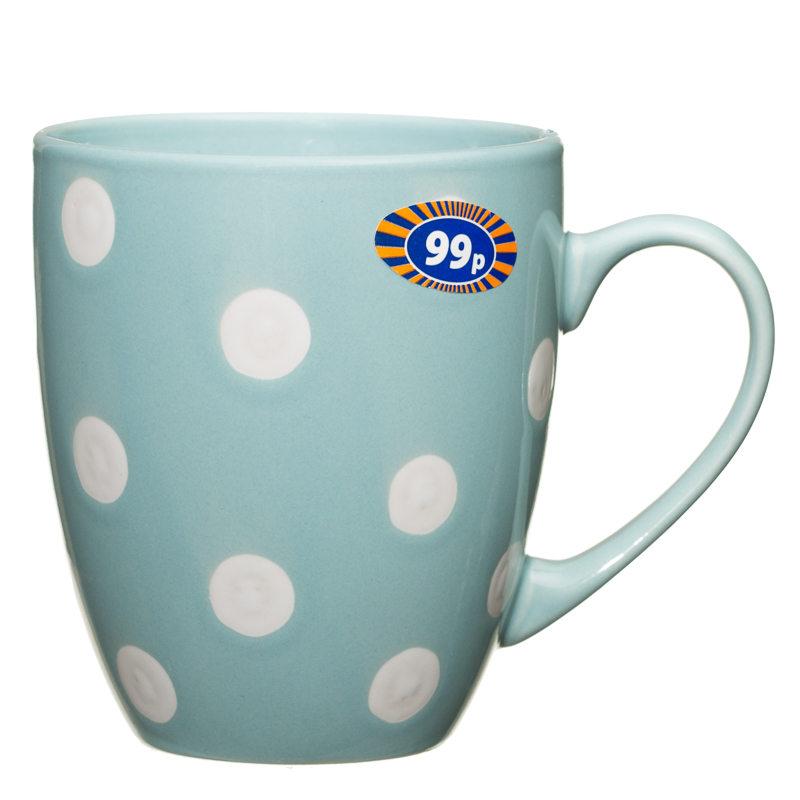 Spotty Mug Duck Egg Blue 2570691 B Amp M