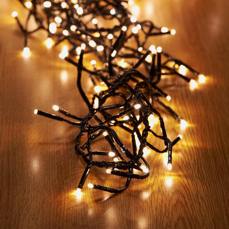 b amp m 480 led cluster christmas lights warm white