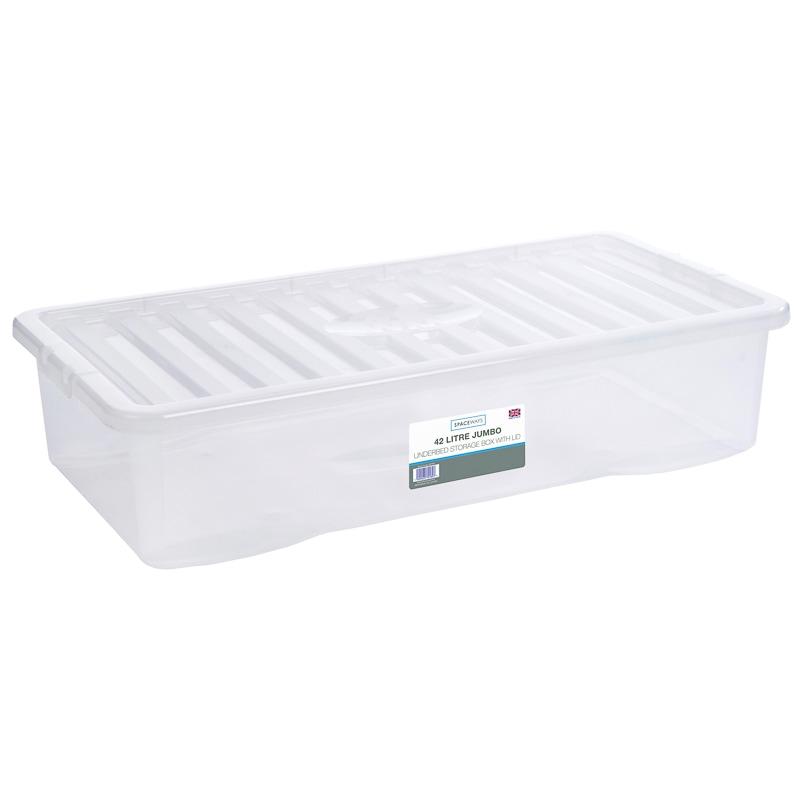 Jumbo Underbed Storage Box With Lid Home Storage B Amp M