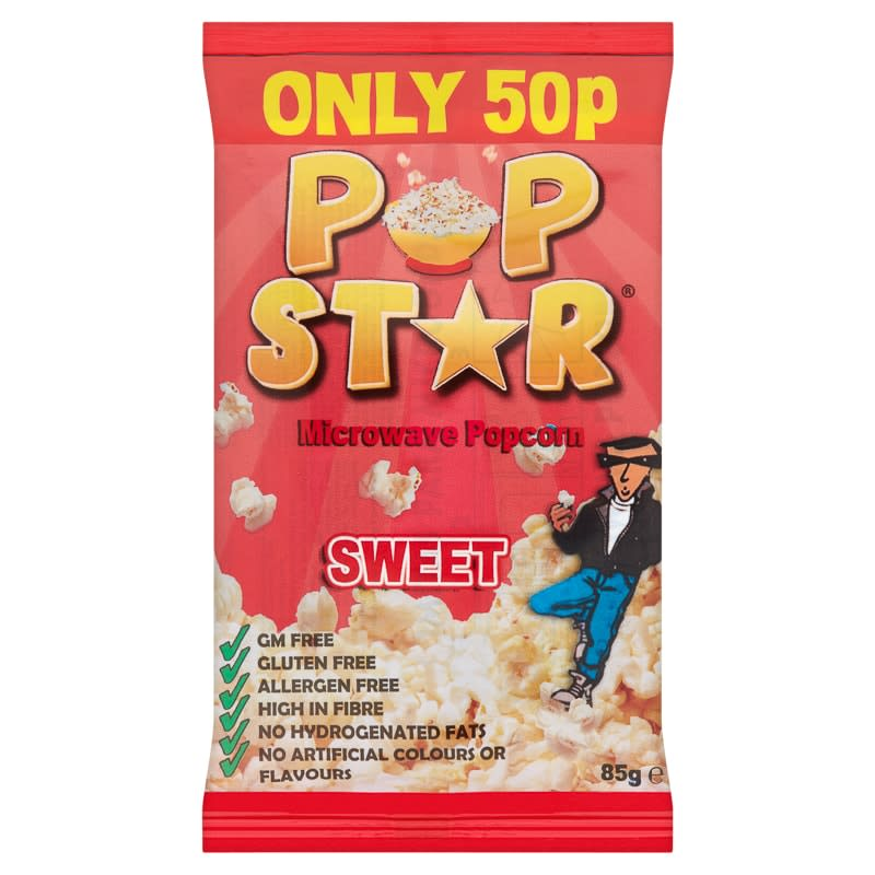 Pop Star Microwave Popcorn - Sweet
