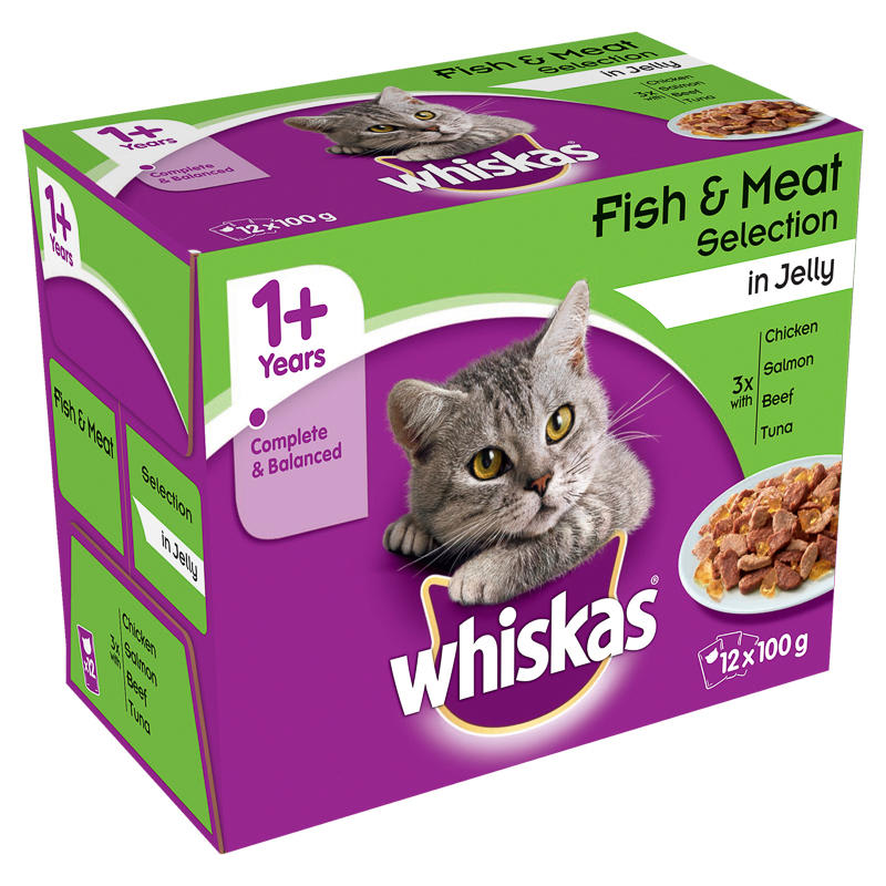 Whiskas Favourites in Jelly 12 x 100g