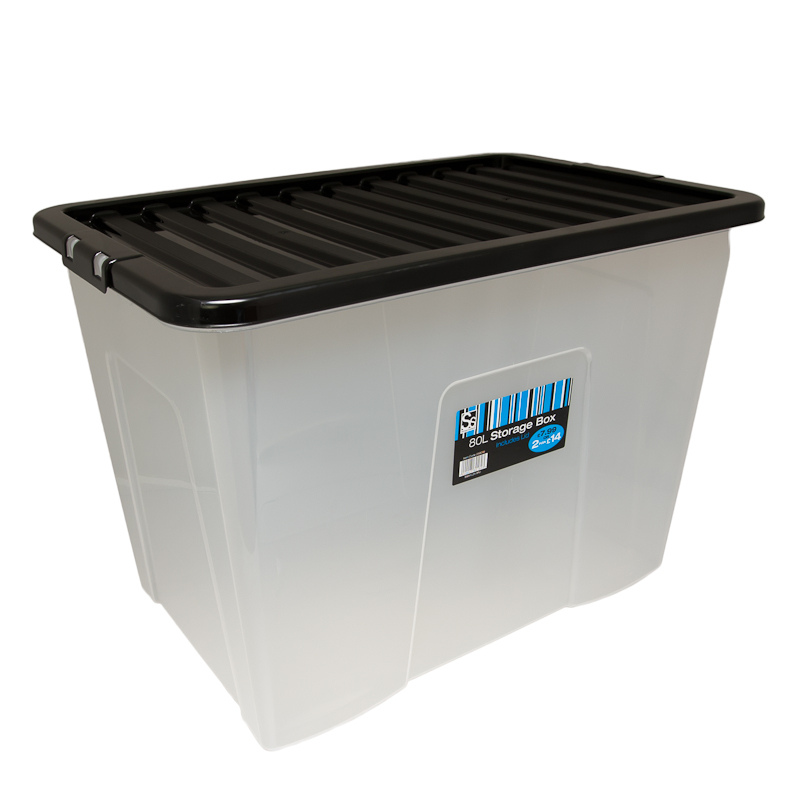 Large Storage Box With Lid 80l