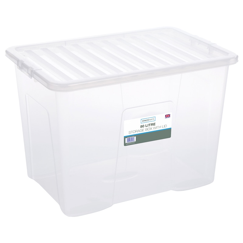 Large Storage Box With Lid 80l Storage Boxes B Amp M