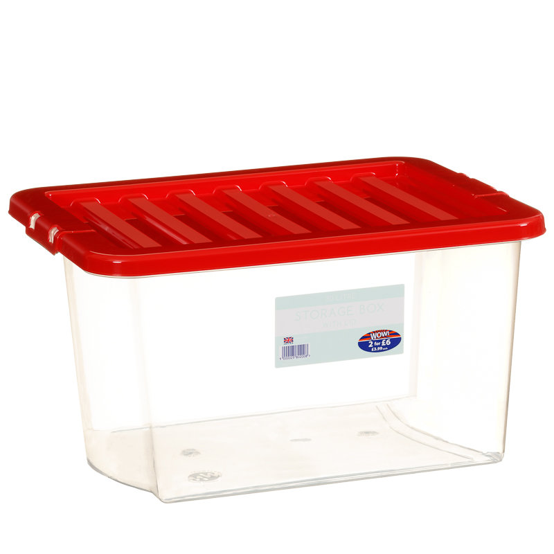 clear storage box with lid 30l storage boxes b m. Black Bedroom Furniture Sets. Home Design Ideas