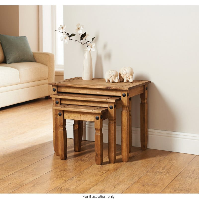 Rio nest of 3 tables living room furniture b m stores for B m living room furniture