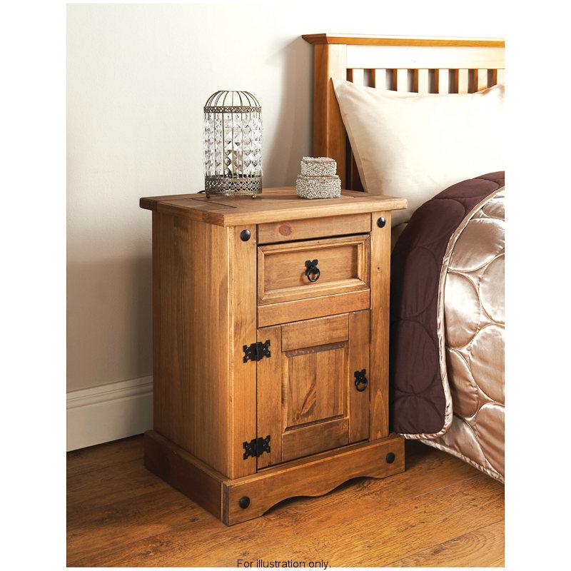 Rio bedside chest bedroom furniture b m for B m bedroom furniture