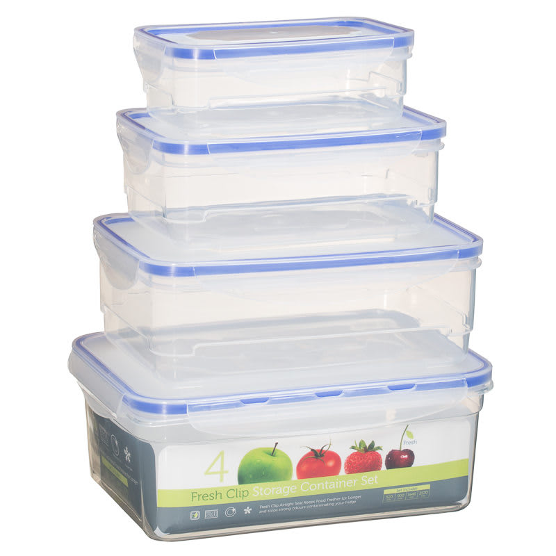 Fresh Clip Storage Container 4 pk Food Container Food Storage