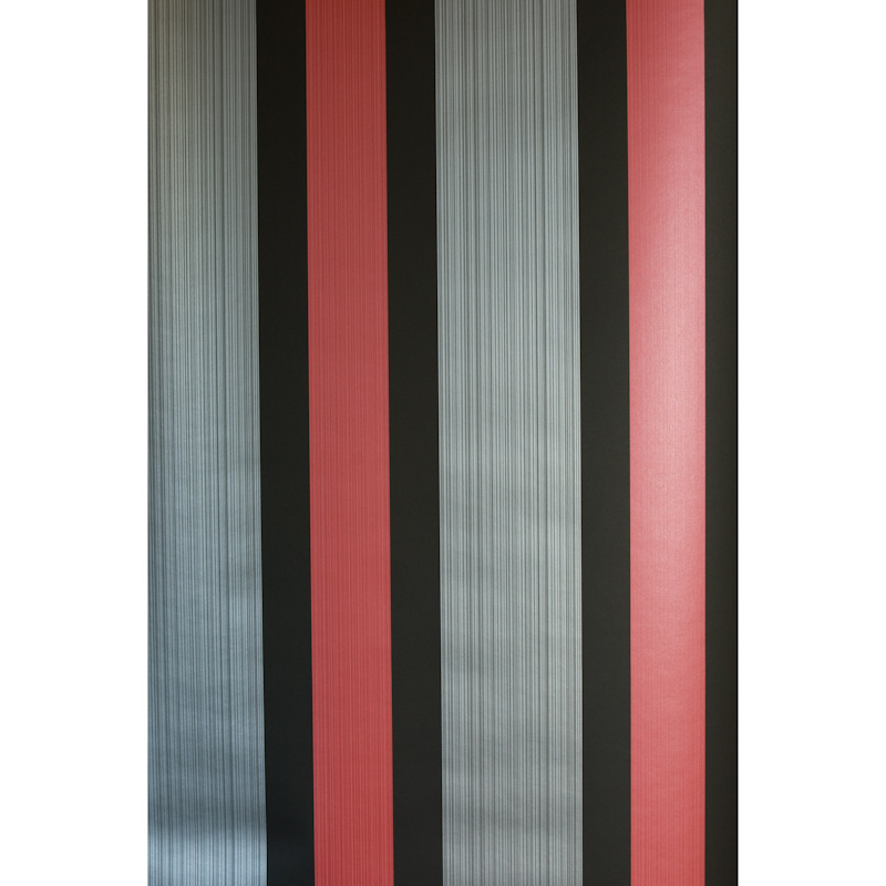 Fine Decor Sunflower Red Stripe Wallpaper