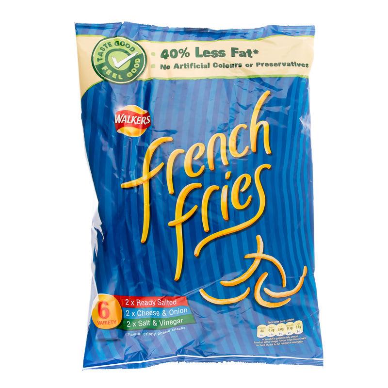 Walkers French Fries 6pk Crisps Snacks Groceries