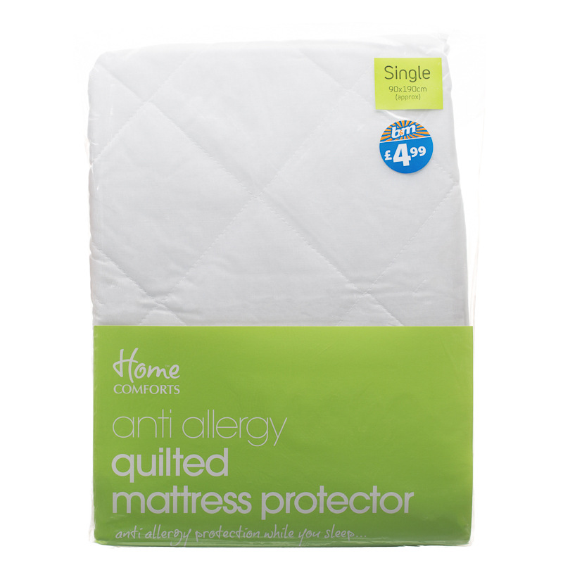anti allergy mattress protector single 261938 b m. Black Bedroom Furniture Sets. Home Design Ideas