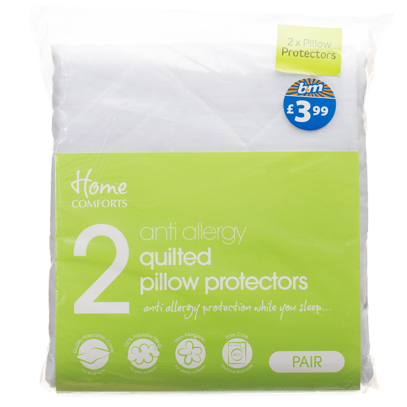 Bm gt anti allergy pillow pair protector 261941 for Anti allergy pillow protector