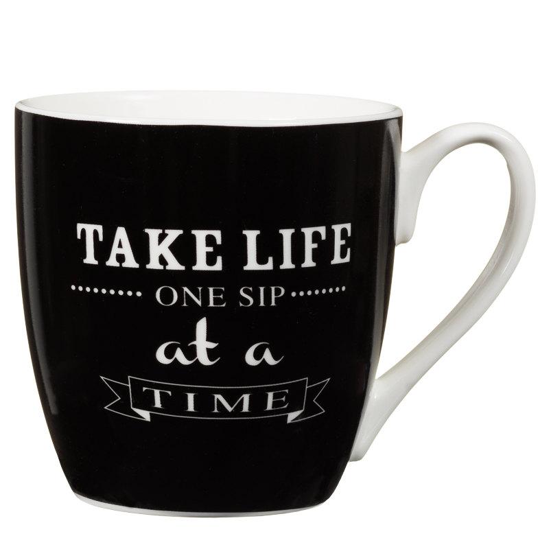 Large Black Amp White Mug Tableware Mugs Amp Cups