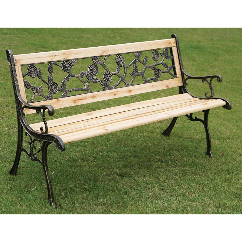 Rose Detail Garden Bench