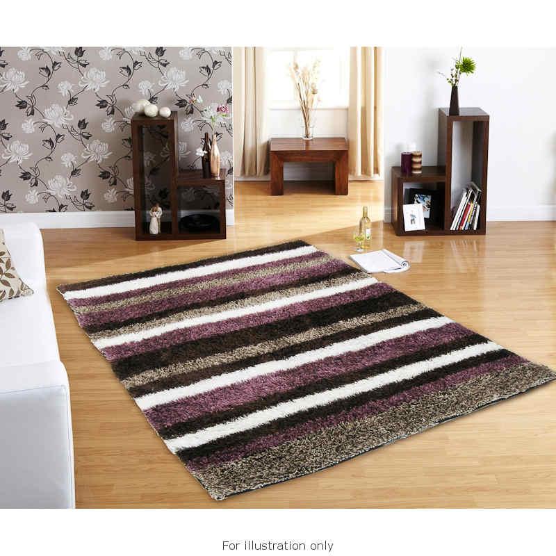 B&M: > Divine Stripe Super Soft Rug 100x150