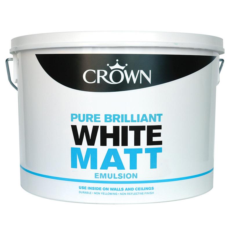 B Amp M Gt Crown 10l Pure Brilliant White Matt Emulsion 266341