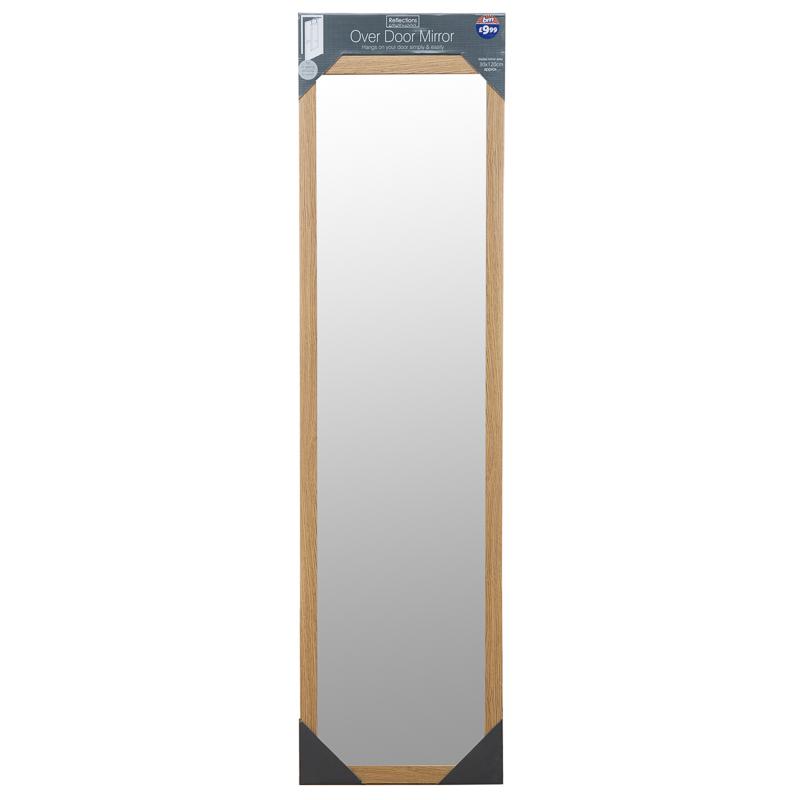 b m over door mirror 120 x 30cm 270480 b m. Black Bedroom Furniture Sets. Home Design Ideas