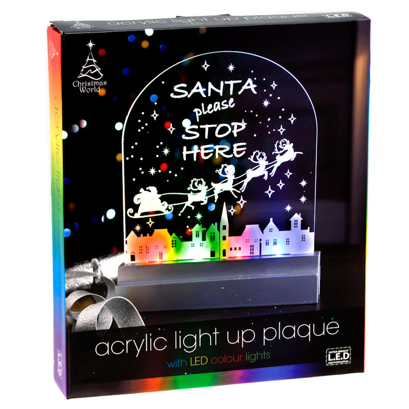 acrylic light up plaque with led colour lights lights. Black Bedroom Furniture Sets. Home Design Ideas