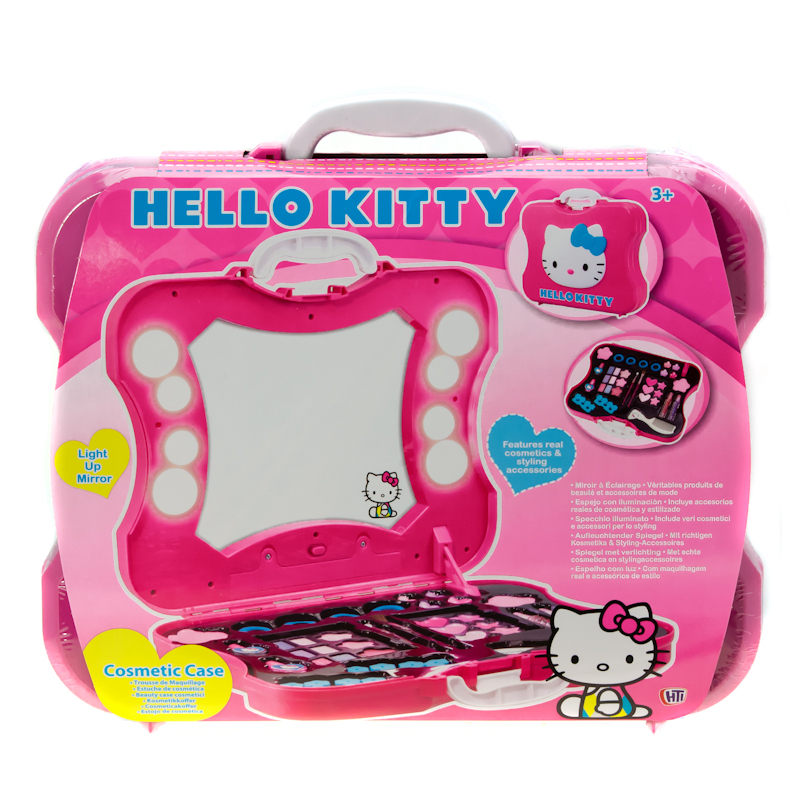 Hello Kitty Vanity Cosmetics Make Up Case Box Set With
