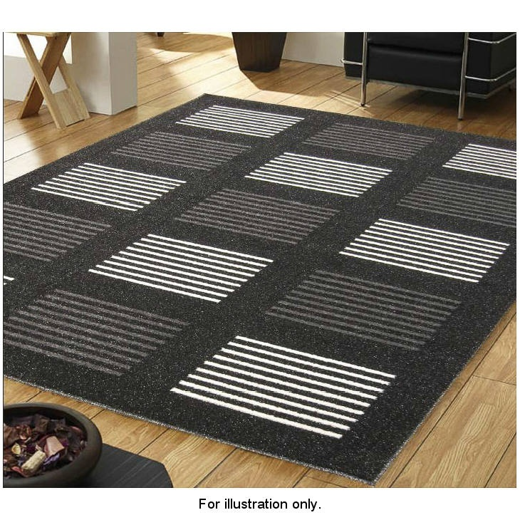 b m sparkle squares rug 110 x 160cm rugs home textiles. Black Bedroom Furniture Sets. Home Design Ideas