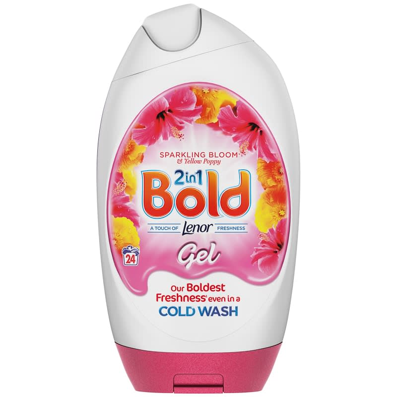 Bold 2-in-1 Touch of Lenor Gel 888ml - Sparkling Bloom & Yellow Poppy
