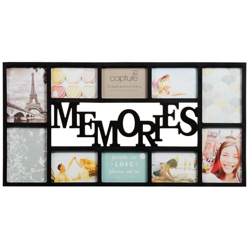 memories multi aperture photo frame   photo frames
