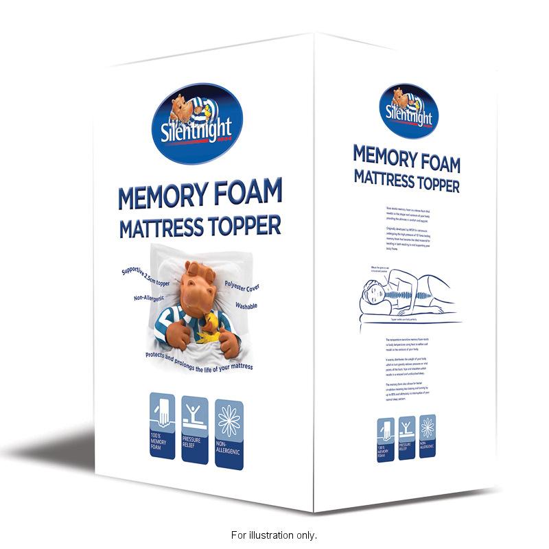 b m silentnight memory foam mattress topper single. Black Bedroom Furniture Sets. Home Design Ideas