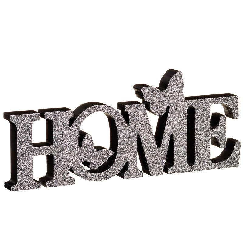 Home Butterflies Word Block Grey Home Accessories