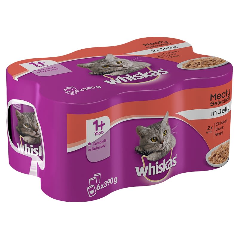 Whiskas Meat Selection in Jelly 6 x 390g