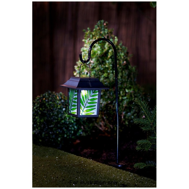 Outside Lights At B M: B&M Stained Glass Hanging Lantern With Solar Light