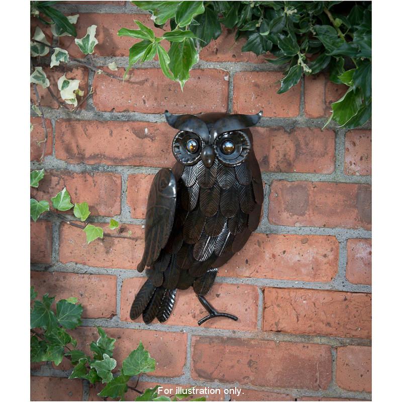3D Owl Outdoor Wall Art Garden Decorations Ornaments
