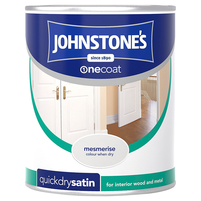 Johnstone 39 s one coat satinwood paint mesmerise 750ml diy for Fast drying paint for crafts