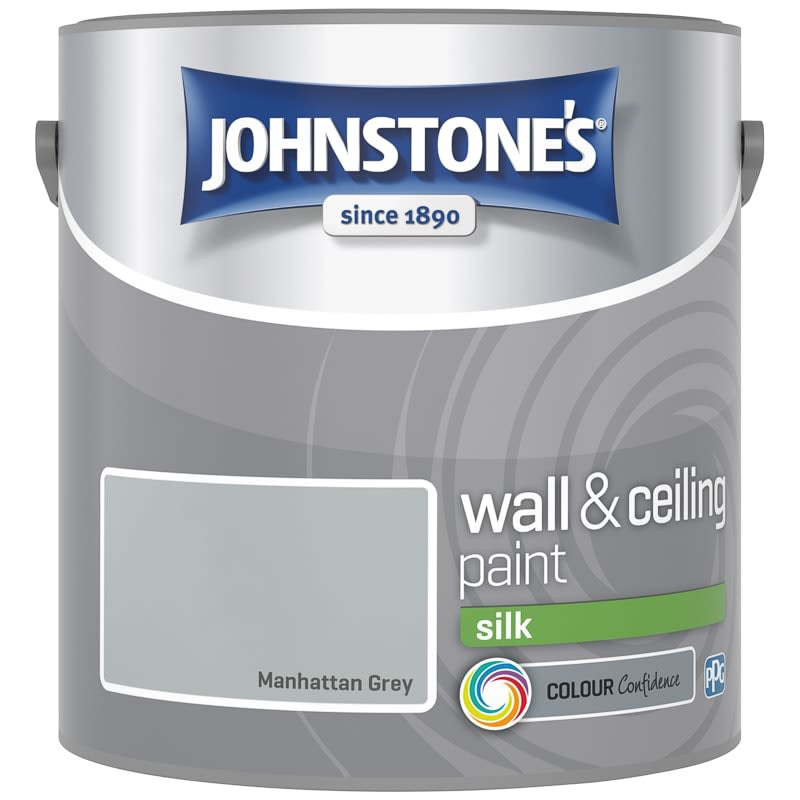 Johnstone's Paint Vinyl Silk Emulsion - Manhattan Grey 2.5L