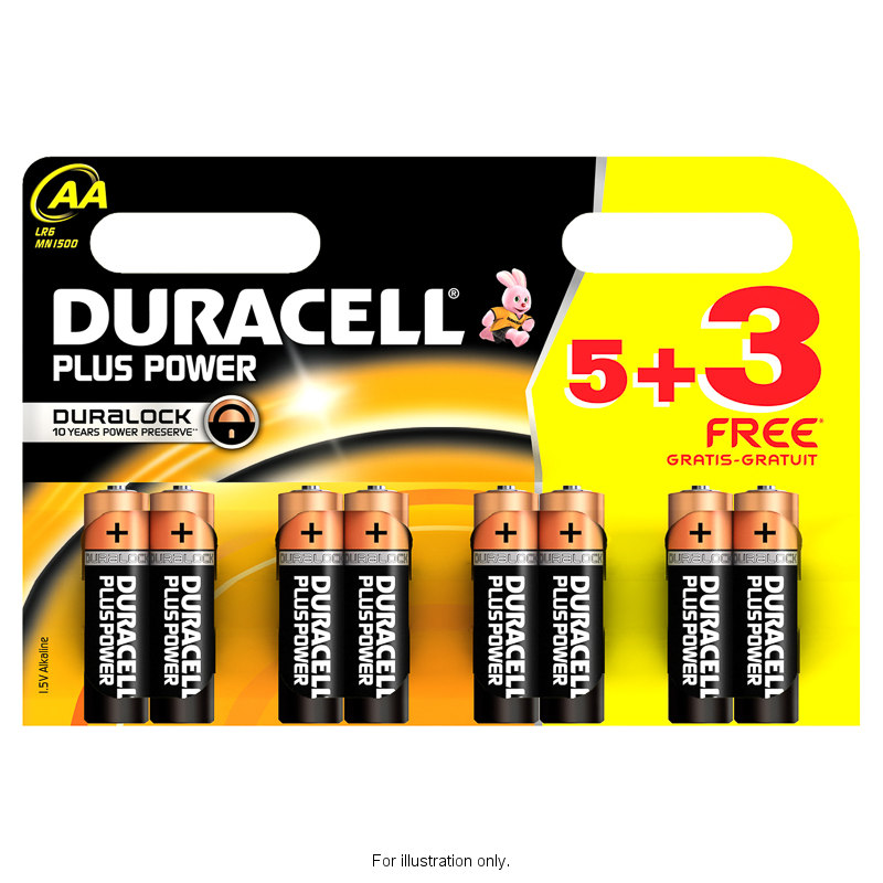 B&M Duracell 5+3 Free Plus Power AA Batteries - 277513 | B&M