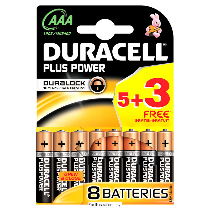 b m duracell 5 3 free plus power aaa batteries 277514 b m. Black Bedroom Furniture Sets. Home Design Ideas