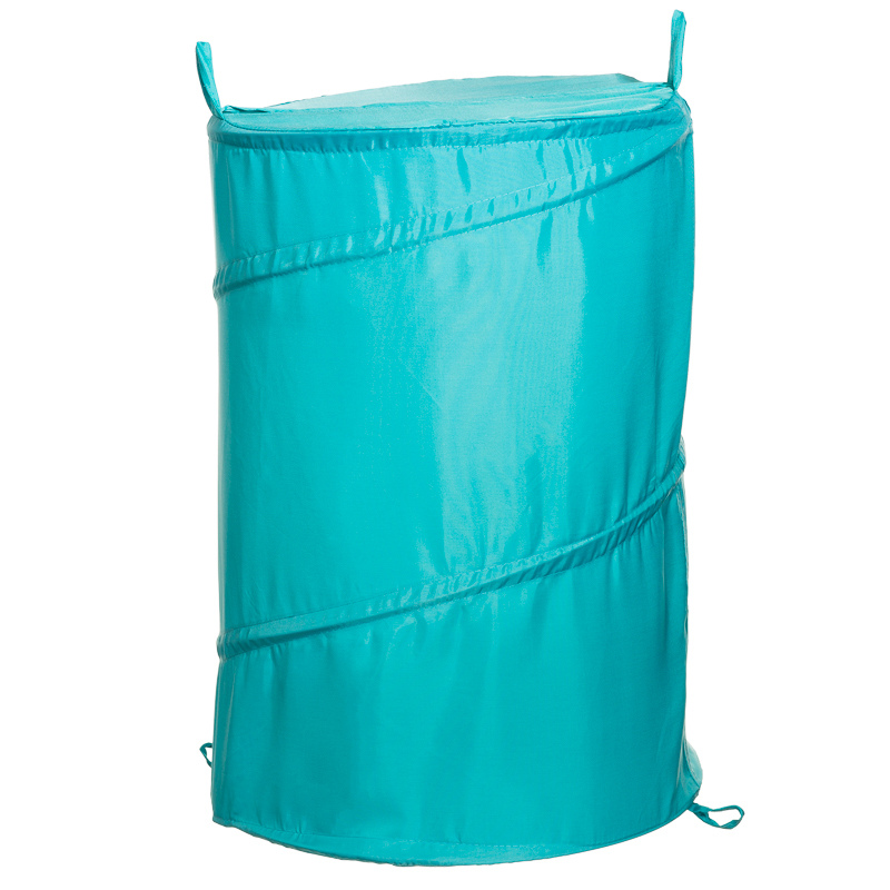 B m pop up laundry bin 42 x 53cm 277526 for Teal bathroom bin