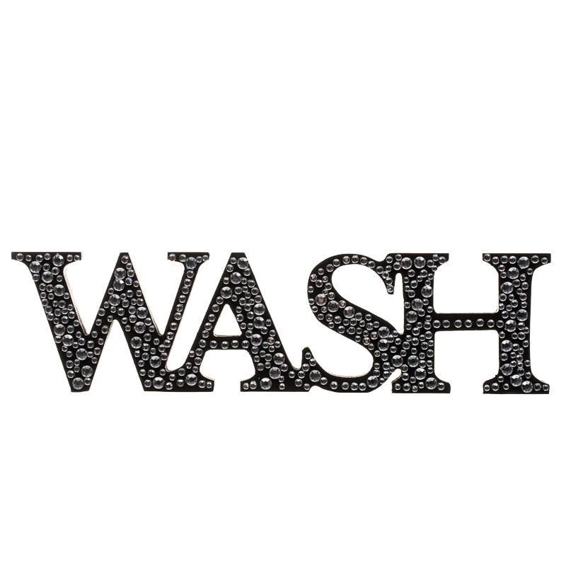 Diamante Word Stand Wash Home Decor Home Accessories