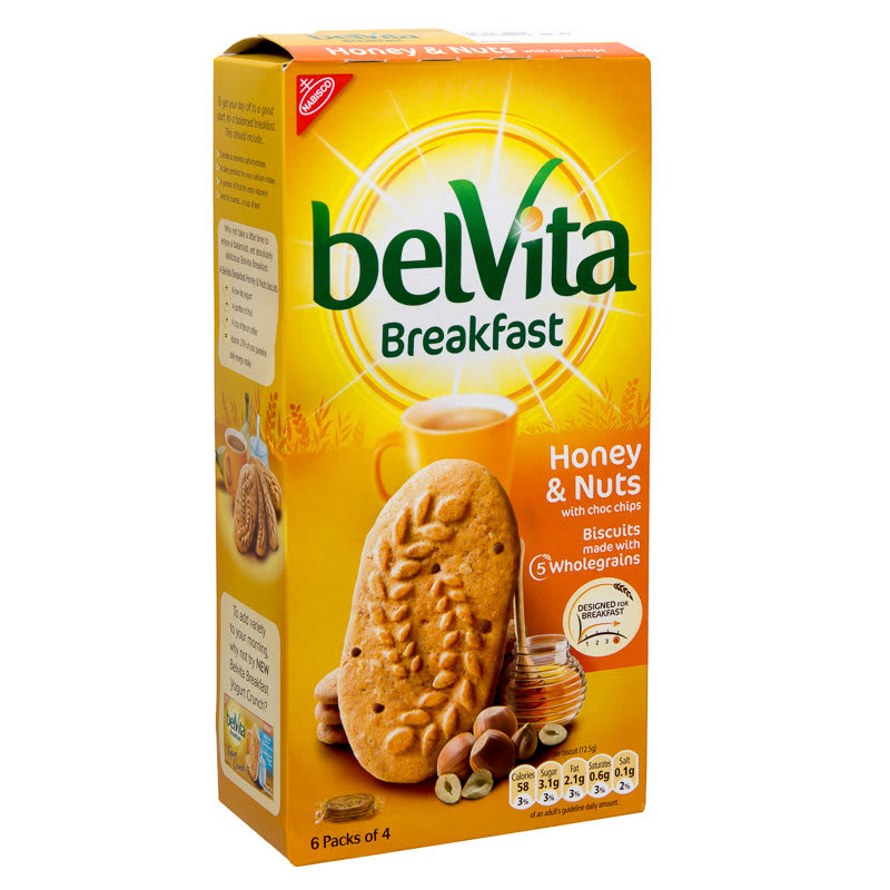Belvita breakfast honey amp nuts 300g 278108