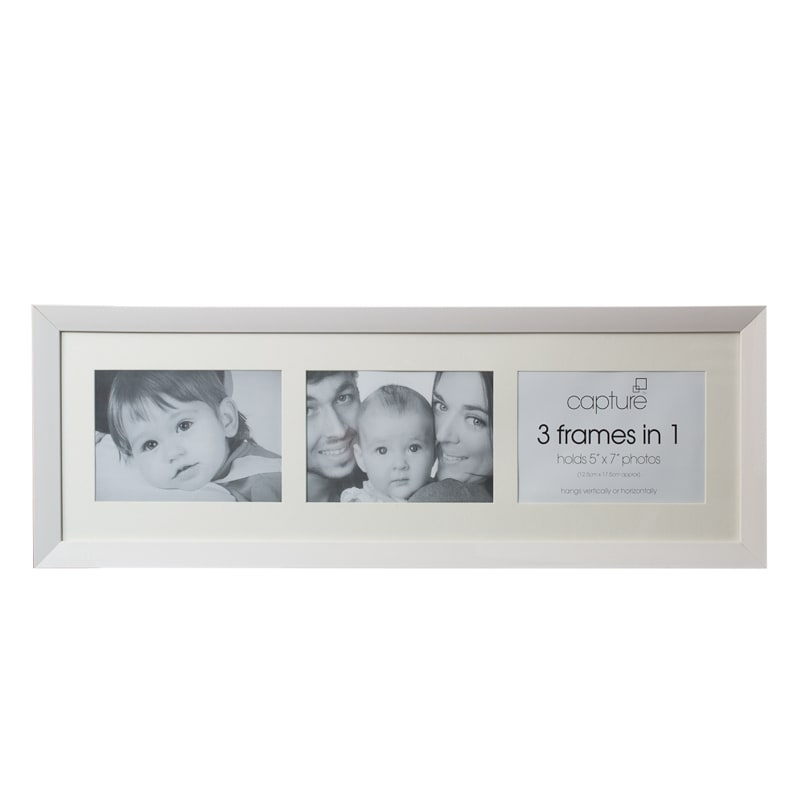 gifts gifts for home capture 3 aperture photo frame 20 x 62cm white