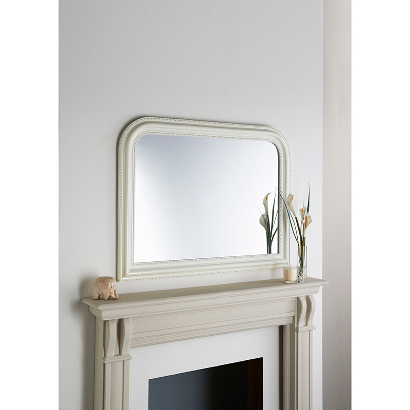 Over mantel beaded mirror 278633 b m for Mantel mirrors