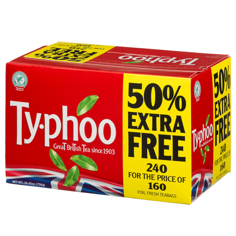 Typhoo Foil Fresh Tea Bags 750g Teabags Tea