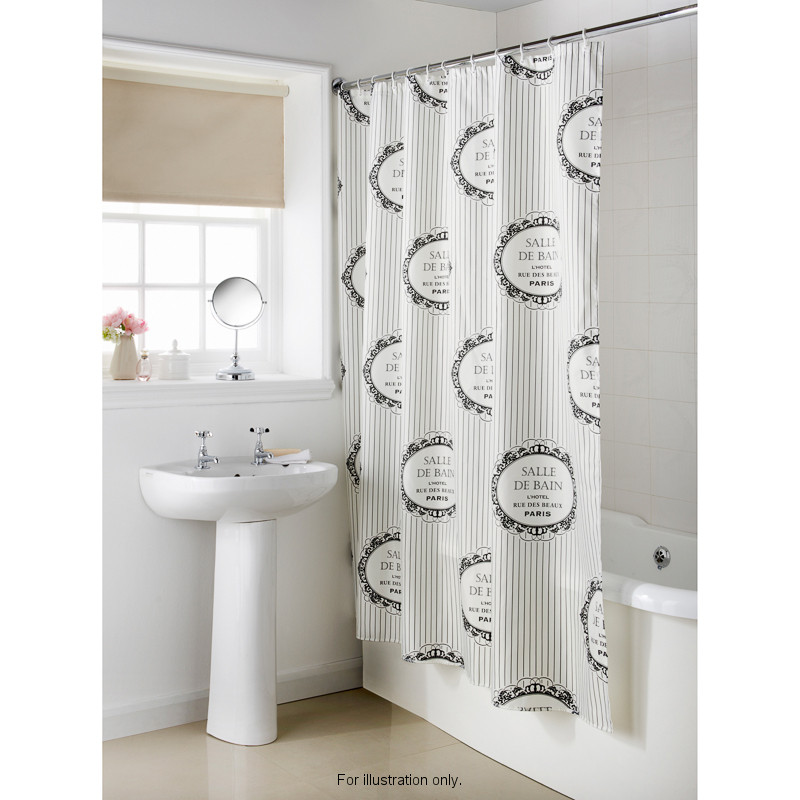 Home Home & Living Bathroom Shower Curtains Paris Shower Curtain