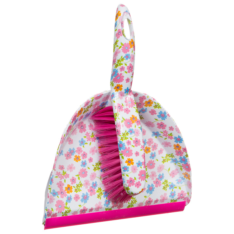 Printed Dustpan Amp Brush Floral Cleaning Products