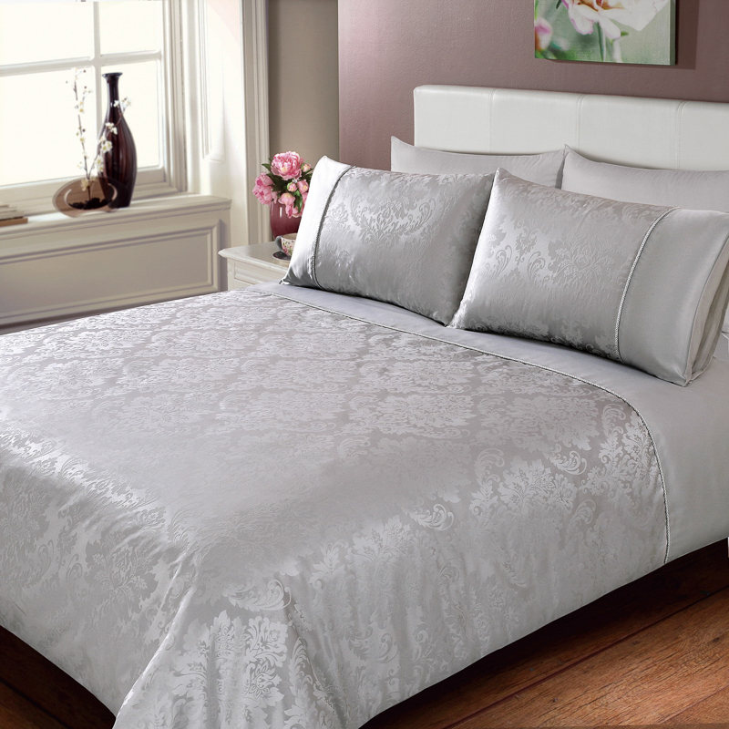Jacquard Damask Duvet Set Double Bedding Duvet Sets