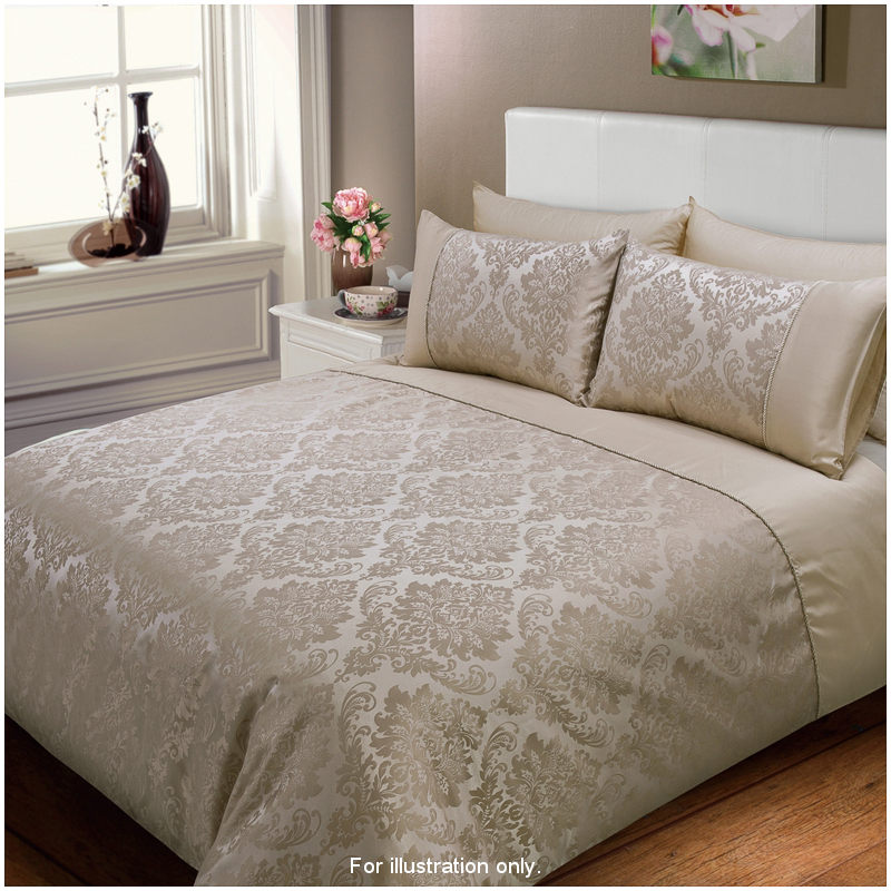 Brown And Cream Double Bedding