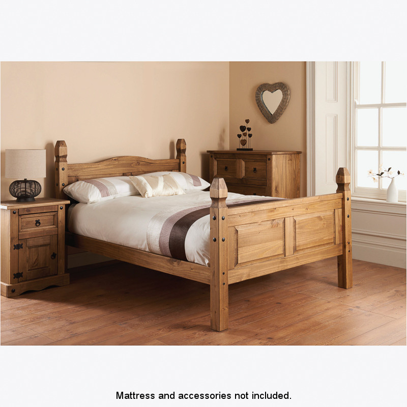 Rio 4ft 6 double bed furniture b m Home furniture and mattress