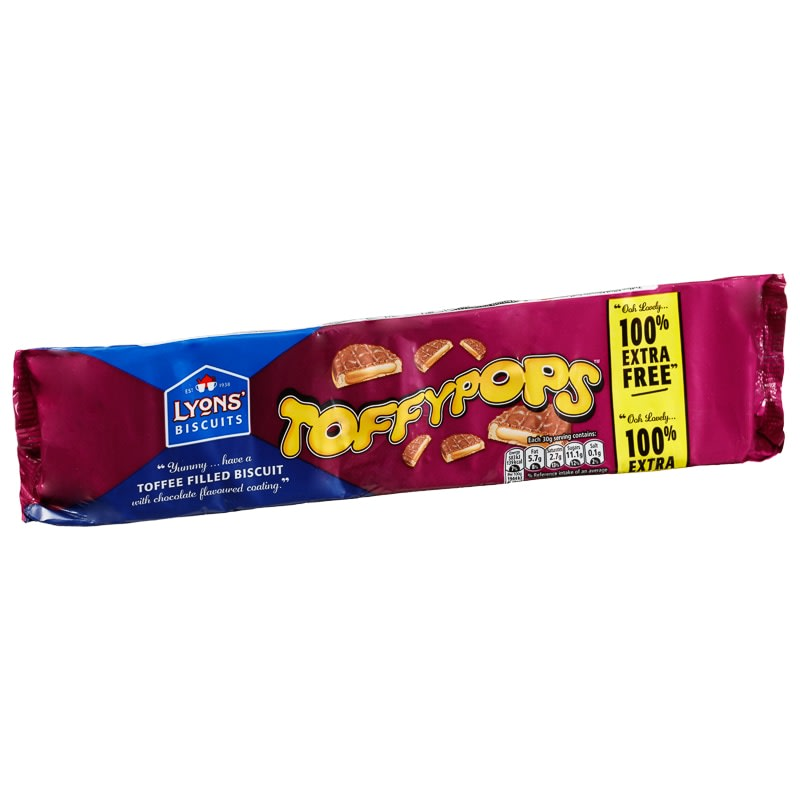 Lyons Toffypops 240g Biscuits B Amp M