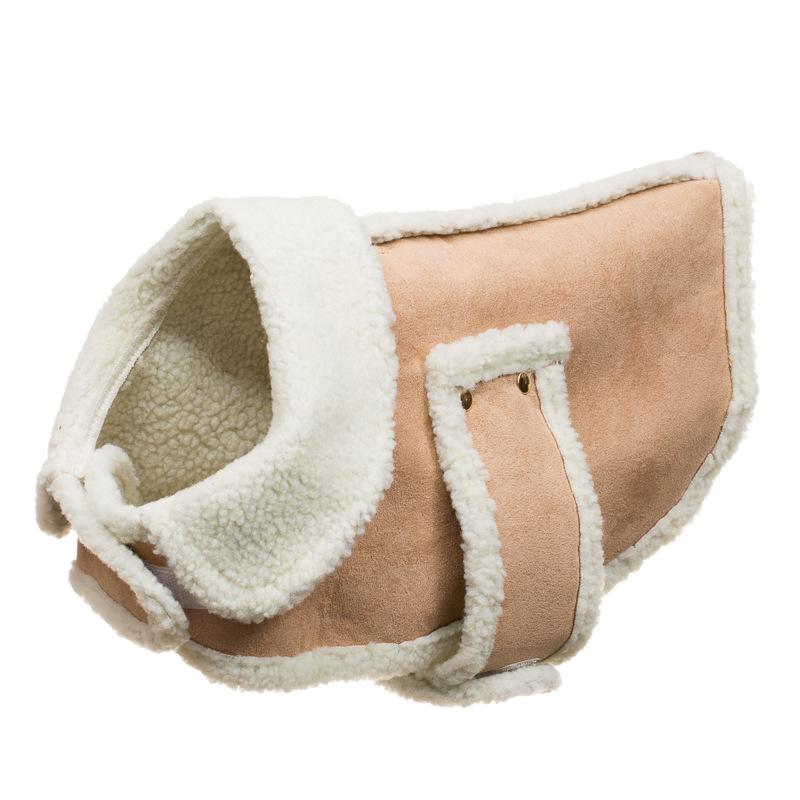 B Amp M Gt Faux Sheepskin Dog Coat Xs S 281529