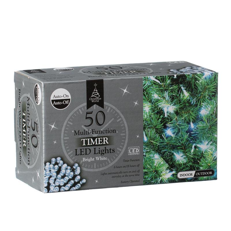 home christmas christmas lights 50 multi function led timer christmas. Black Bedroom Furniture Sets. Home Design Ideas