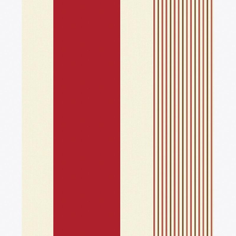 282796 Holden Decor K2 Akina Red Stripe Colour Blown Vinyl Wallpaper